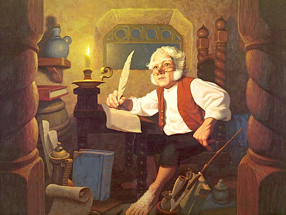 Bilbo at Rivendell, 1976 Greg Hildebrandt and Tim Hildebrandt