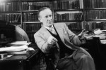 John Ronald Reuel Tolkien ( 1892 - 1973) the South African-born philologist and author of 'The Hobbit' and 'The Lord Of The Rings'.
