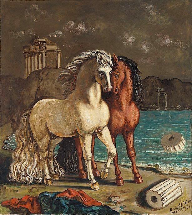 Τα άλογα του Αχιλλέα, Giorgio de Chirico