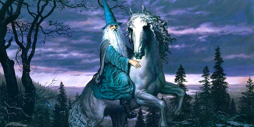 Gandalf and Shadowfax, by Ted Nasmith