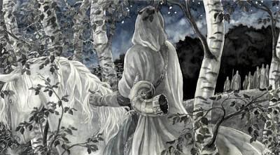 """Oromë espies the first Elves"" by Anke Katrin Eissmann"