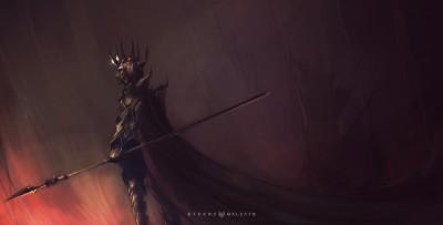 Melkor, early concept by foxinshadow - http://foxinshadow.deviantart.com
