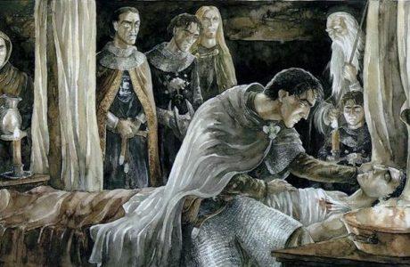 Healing Faramir, by artist Anke Eissmann.