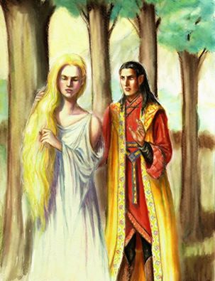 Galadreil and Feanor in Valinor by Tolman Cotton